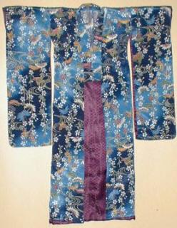 Yuzen tecnica della pittura su kimono